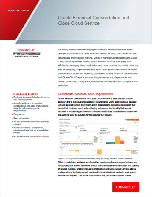 Oracle Cloud EPM FCCS